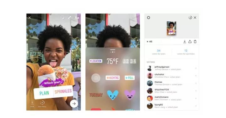 Instagram hikayelerine anket özelliği geldi