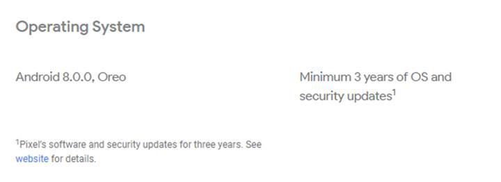 Google Pixel 2 telefonlar için 3 yıl güncelleme garantisi