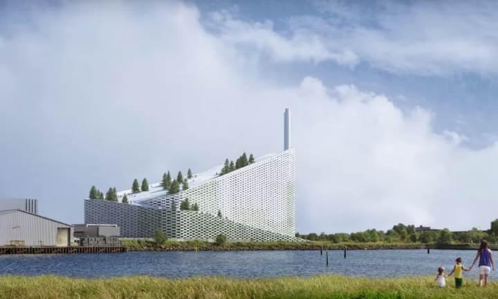 Kopenhag, enerji tesisi üstündeki kayak pistini kullanıma sunuyor