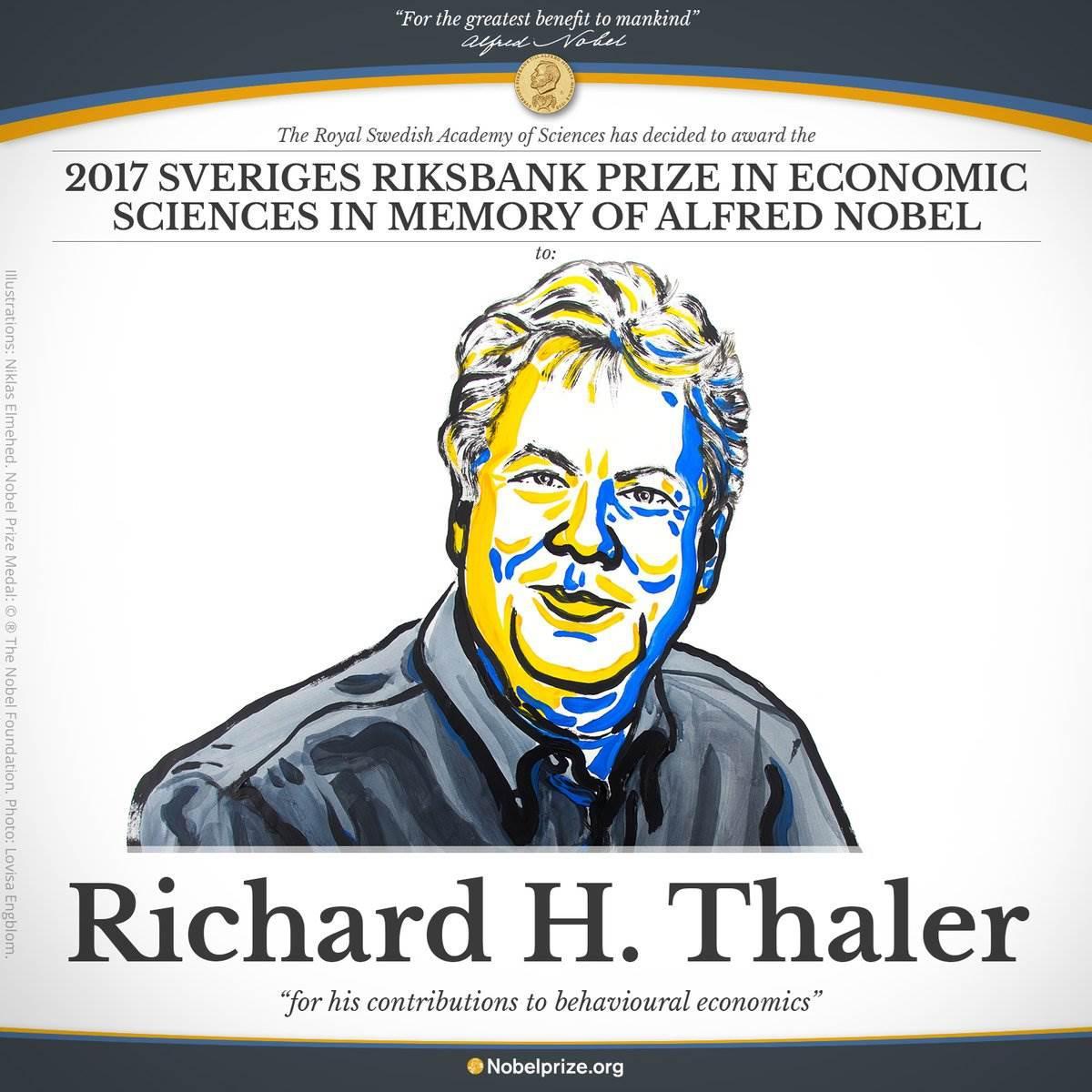 2017 Nobel Ekonomi Ödülü'nün kazananı belli oldu