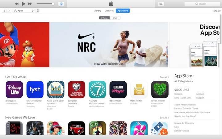 App Store içeren iTunes 12.6.3 sürümü yayınlandı