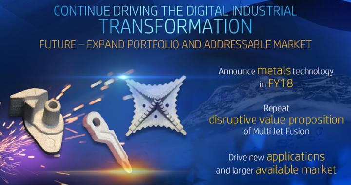 HP 2018 yılında metal obje basan 3D yazıcı satmayı planlıyor