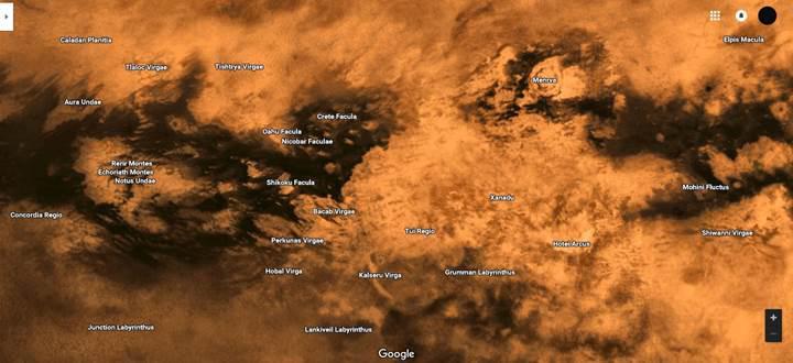 Google Maps ile Güneş Sistemini keşfedin