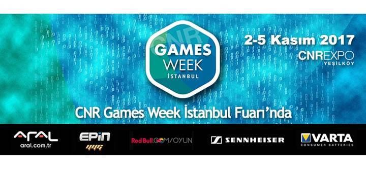 Oyun ve Eğlence Fuarı CNR Games Week İstanbul'da geri sayım başladı