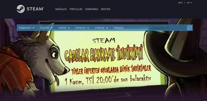 Steam Cadılar Bayramı İndirimi başladı!