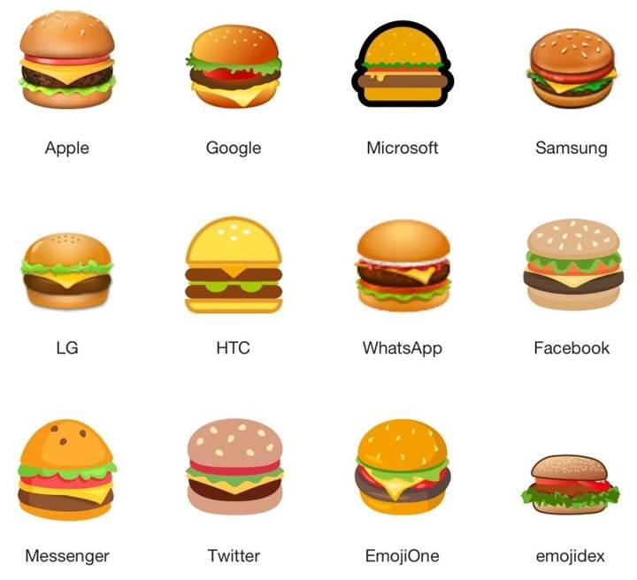 Google'ın hamburger emojisi tartışma konusu oldu