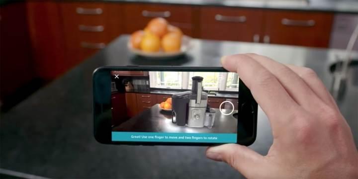 Amazon'un iOS uygulamasına artırılmış gerçeklik desteği geldi