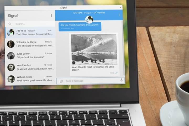 Şifreli mesajlaşma platformu Signal'in masaüstü uygulaması çıktı
