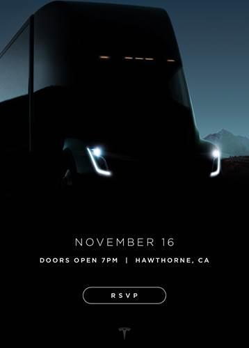 Tesla, Semi elektrikli tırı için yeni bir davetiye görseli yayınladı