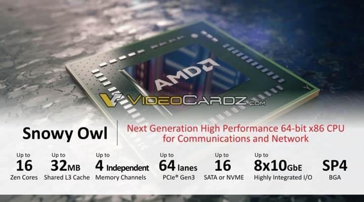 Entegre AMD EPYC serisi detaylanıyor