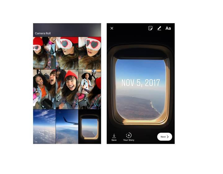 Instagram Hikayeler geçmişe gidiyor