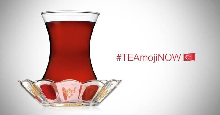 İnce belli çay bardağı emojisi için #TEAmojiNOW kampanyası başladı