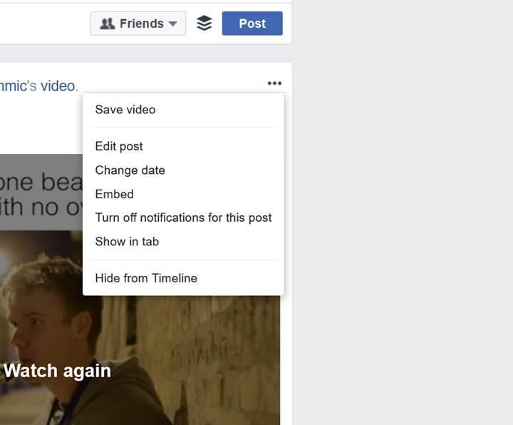 Facebook, web sürümünden