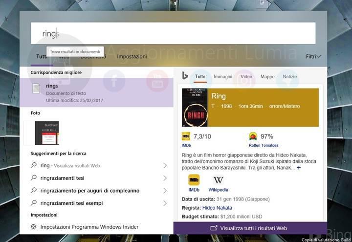 Microsoft, Windows 10'un arama arayüzünü yenileyerek MacOS'taki Spotlight'a benzetti