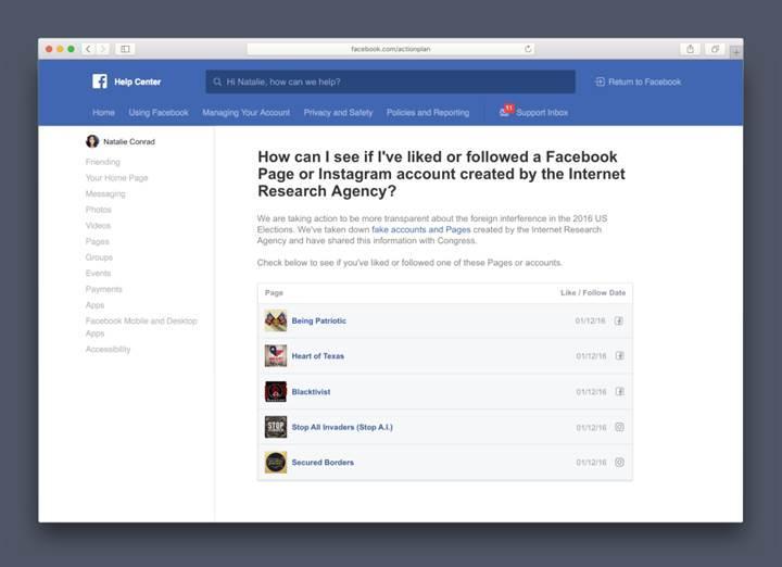 Facebook, Rus propagandasından etkilenen kullanıcıları uyaracak