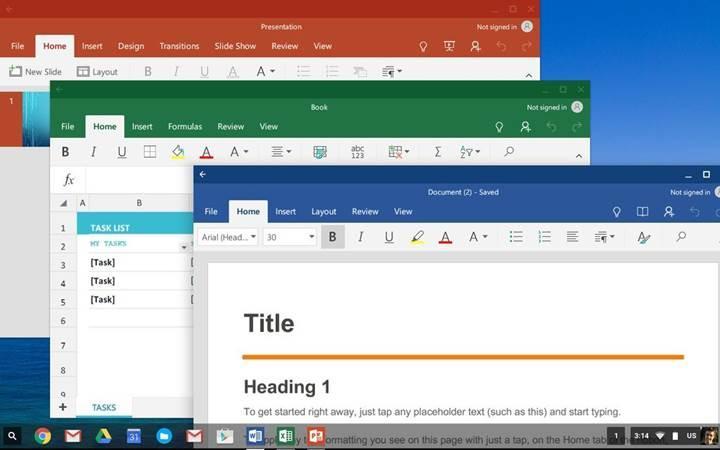 Microsoft Office artık tüm Chromebook'lara indirilebilir