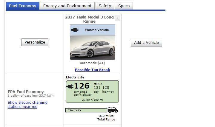 Tesla Model 3'ün menzili EPA tarafından resmen onaylandı