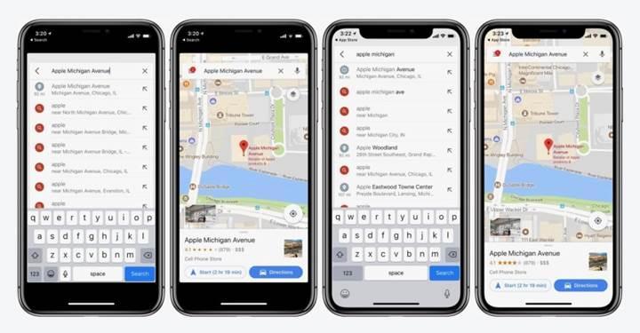 Google Haritalar artık iPhone X'un ekranını destekliyor