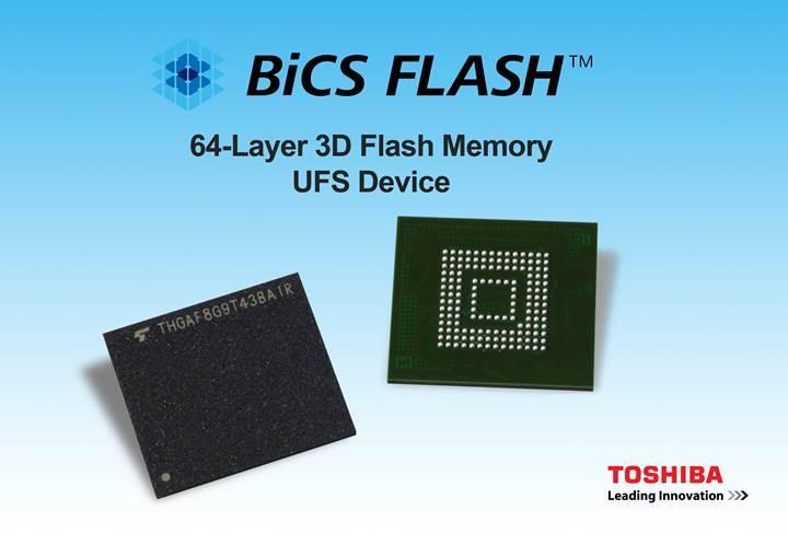 Toshiba, 64-katmanlı 3D UFS bellek geliştirdi
