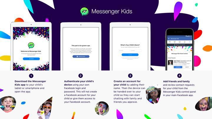 Çocuklar için tasarlanan mesajlaşma uygulaması: Messenger Kids