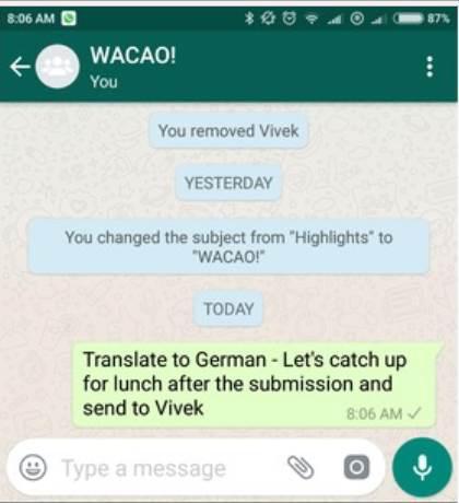 Biriken WhatsApp mesajlarını özetleyen sanal asistan WACAO ile tanışın