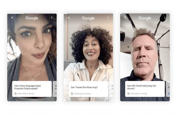Google arama sonuçlarında ünlülerden yardım alıyor
