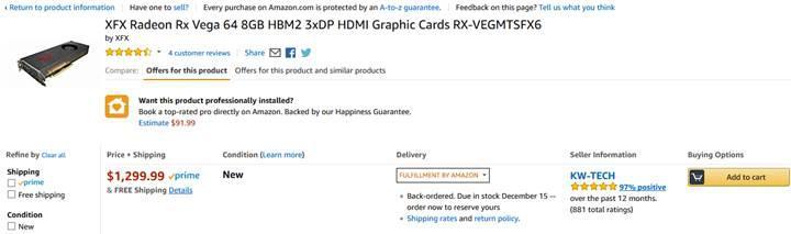AMD referans tasarım RX Vega kart gönderimini durdurdu