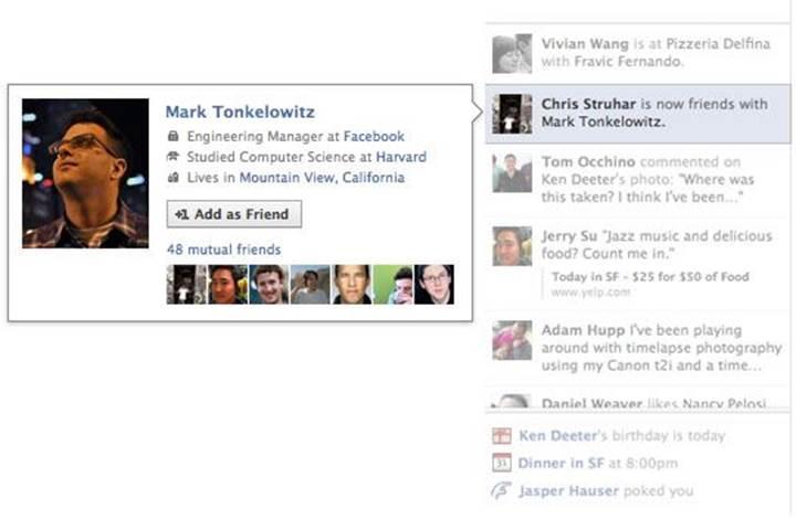 Arkadaşlarınızın ne yaptığını görebildiğiniz Facebook Ticker modülü kaldırılıyor