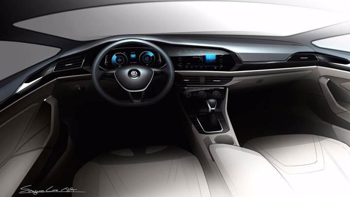 2019 Volkswagen Jetta'ya ait yeni eskiz görseller yayınlandı