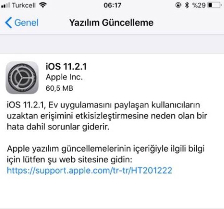 iOS 11.2.1 yayınlandı: HomeKit güvenlik açığı düzeltiliyor
