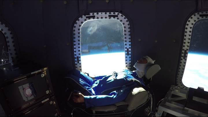 Uzay kapsülünün içinden muhteşem görüntüler: Blue Origin'in denemesine bir de böyle bakın