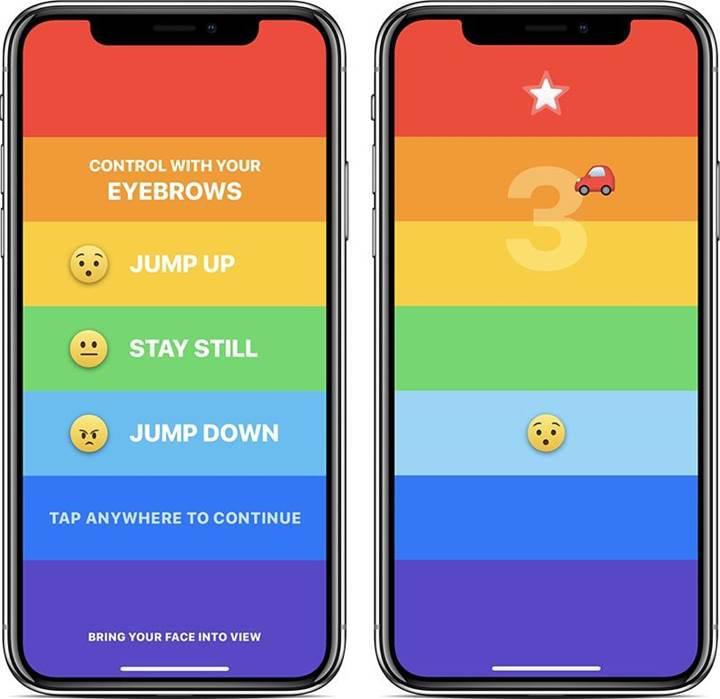 iPhone X'te kaşınızla oyun oynayın