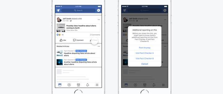 Facebook sahte haberler için etiketleme uygulamasından vazgeçti