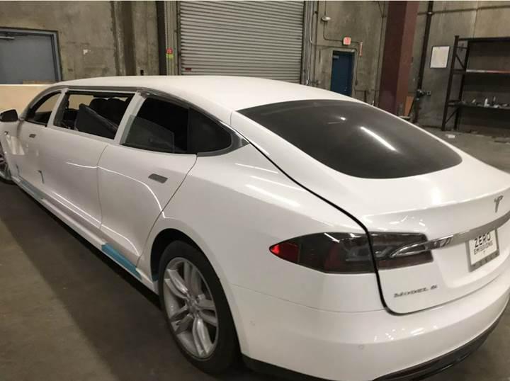 Dünyanın ilk Tesla Model S limuzini ile tanışın