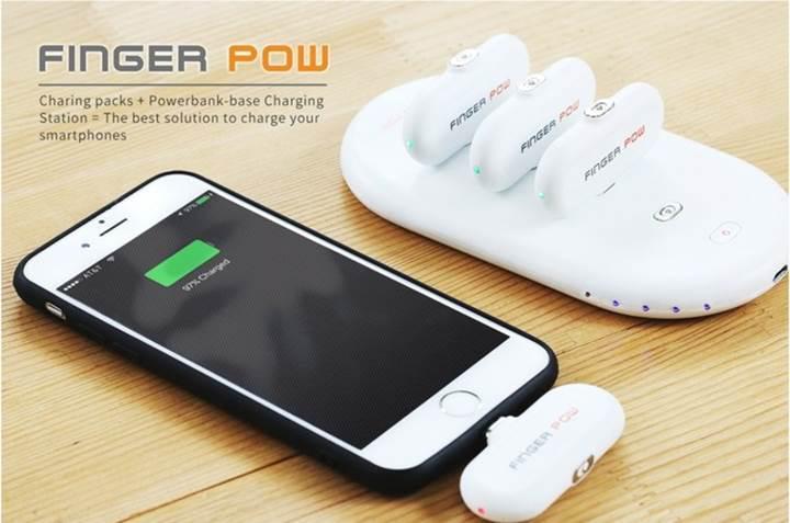 Finger Pow ile powerbank kullanımına yeni bir bakış açısı geliyor