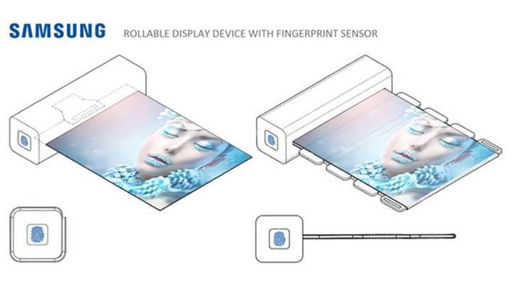 Samsung'un parmak izi sensörlü sarılabilir ekranının patenti ortaya çıktı