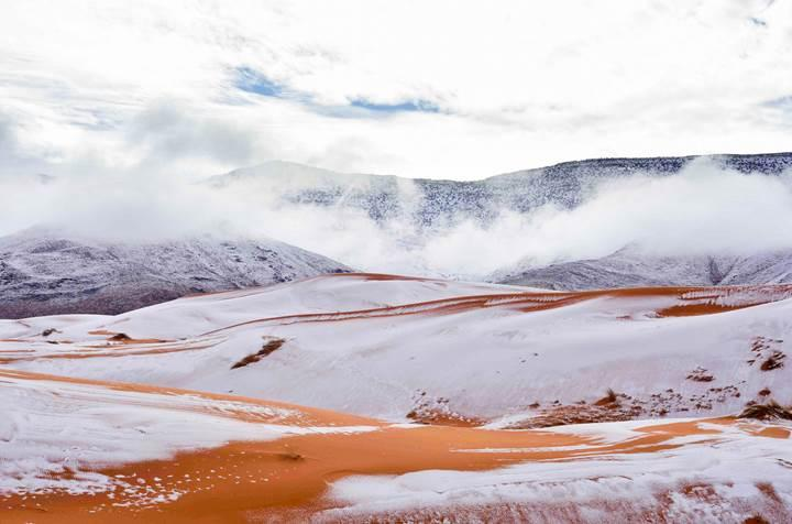 Sahra Çölü'ne kar yağdı! Türkiye'ye ne zaman kar yağacak?