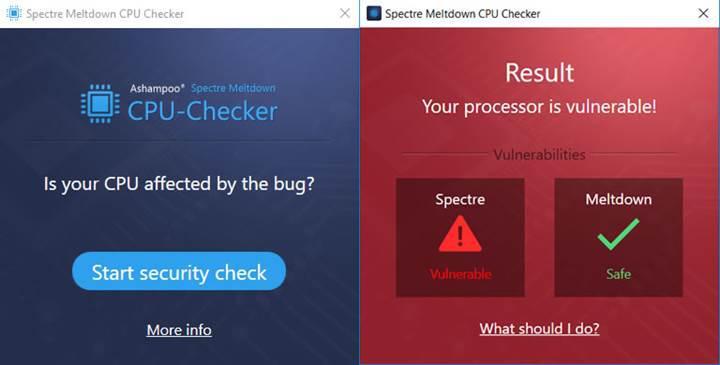 PC'niz Meltdown ve Spectre'ye karşı savunmasız mı? Kolayca öğrenin