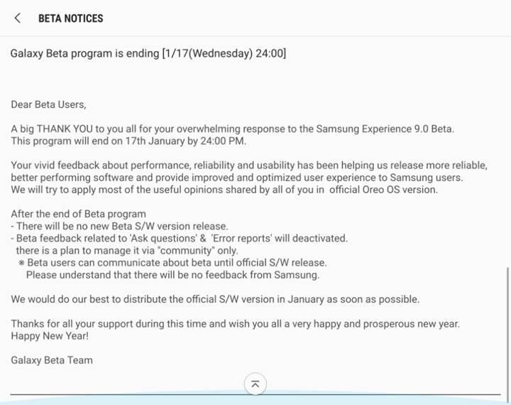 Samsung Galaxy S8 için Oreo güncellemesi Ocak sonuna kadar gelebilir