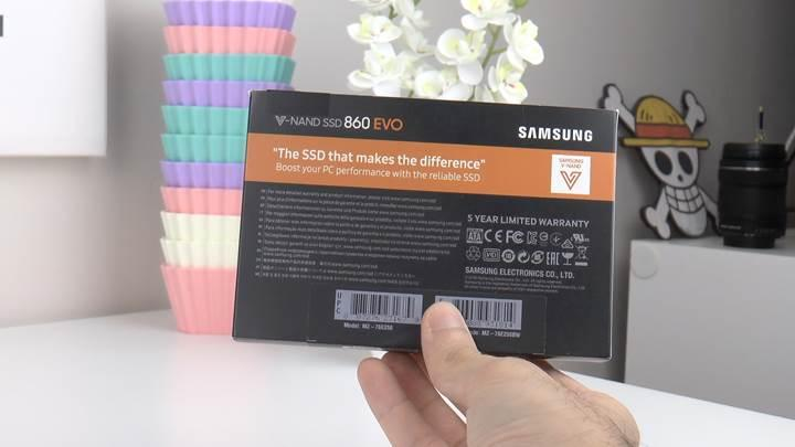 Samsung 860 EVO SSD incelemesi
