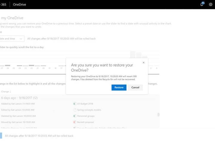 Microsoft OneDrive for Business'a dosya geçmişi özelliğini ekliyor