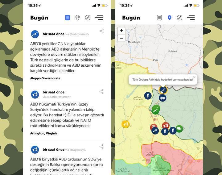 Zeytin Dalı harekatındaki gelişmeleri anlık olarak paylaşan Liveuamap'e erişim engeli