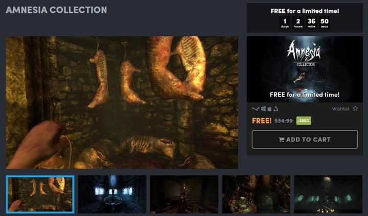 55 TL değerindeki Amnesia Collection oyun paketi ücretsiz!