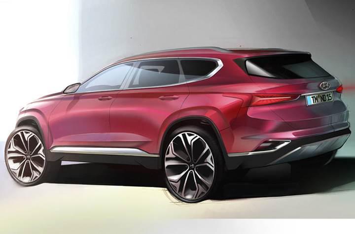 Hyundai Santa Fe'nin taslak görüntüleri ortaya çıktı