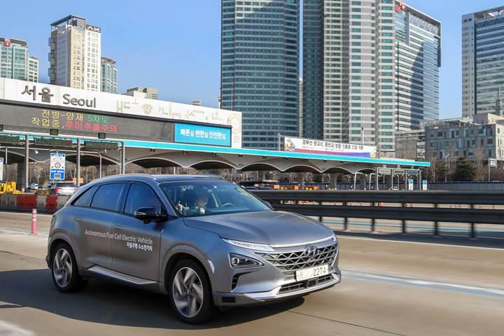 Hyundai'ın hidrojen yakıtlı otonom aracı menzil rekoru kırdı