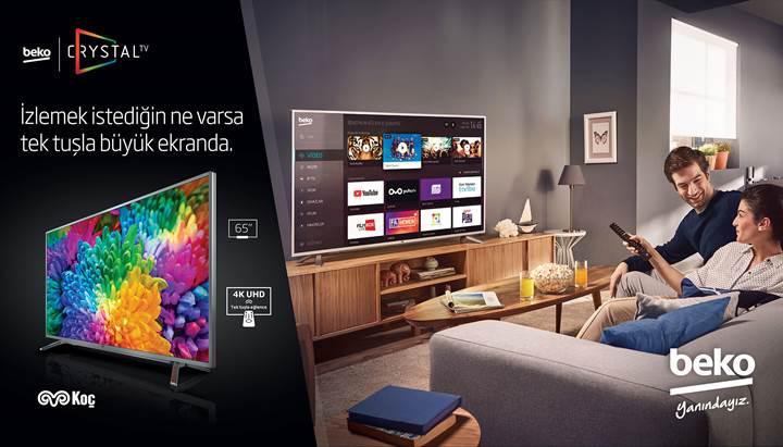 Beko Crystal TV serisi tanıtıldı: 4K UHD, HDR, 65 inç