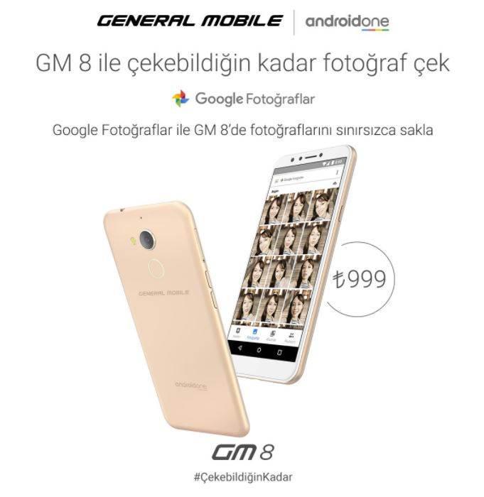 General Mobile GM 8 özellikleri ve fiyatı