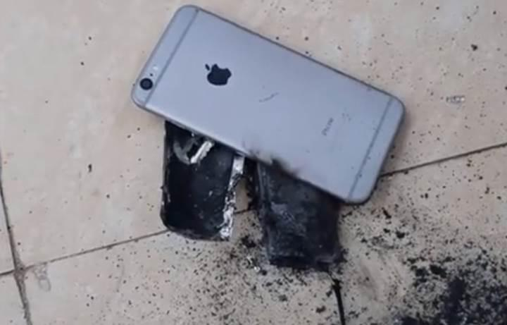 Kuaför salonunda patlayan iPhone büyük panik yarattı
