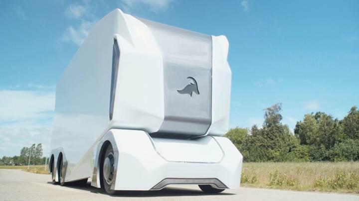 Sürücüsüz elektrikli kamyon T-pod bu yıl İsveç yollarına çıkıyor