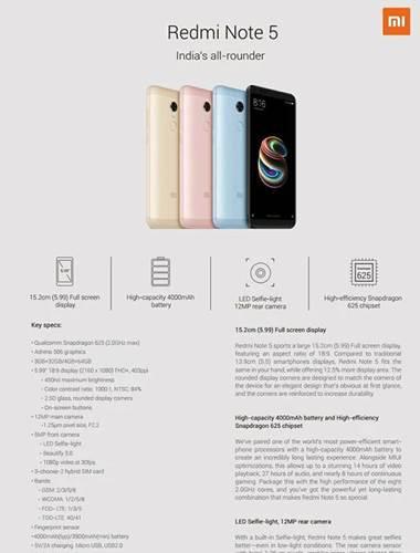 Redmi Note 5 serisi karşınızda